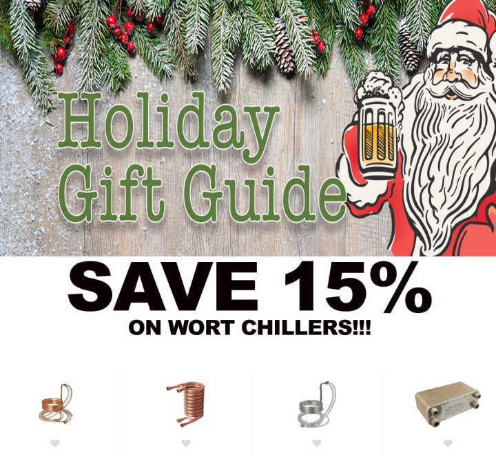 More Beer promo code for 15% off wort chillers