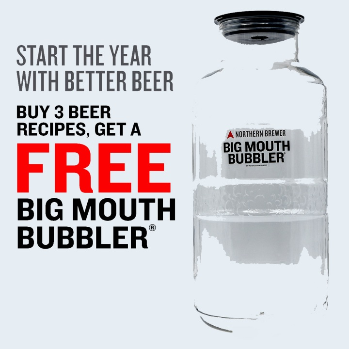 NorthernBrewer.com Promo Code for a Free Big Mouth Bubbler