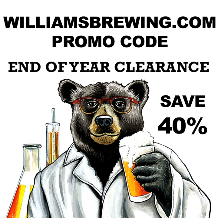 WilliamsBrewing.com Promo Code Year End Sale