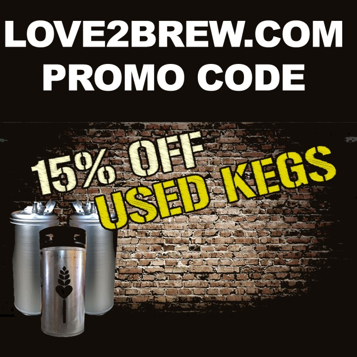 Save 15% On Kegs At Love2Brew.com With Promo Code