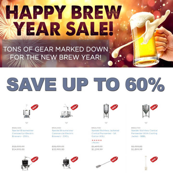 Save Up To 60% At The MoreBeer.com Happy Brew Year Sale