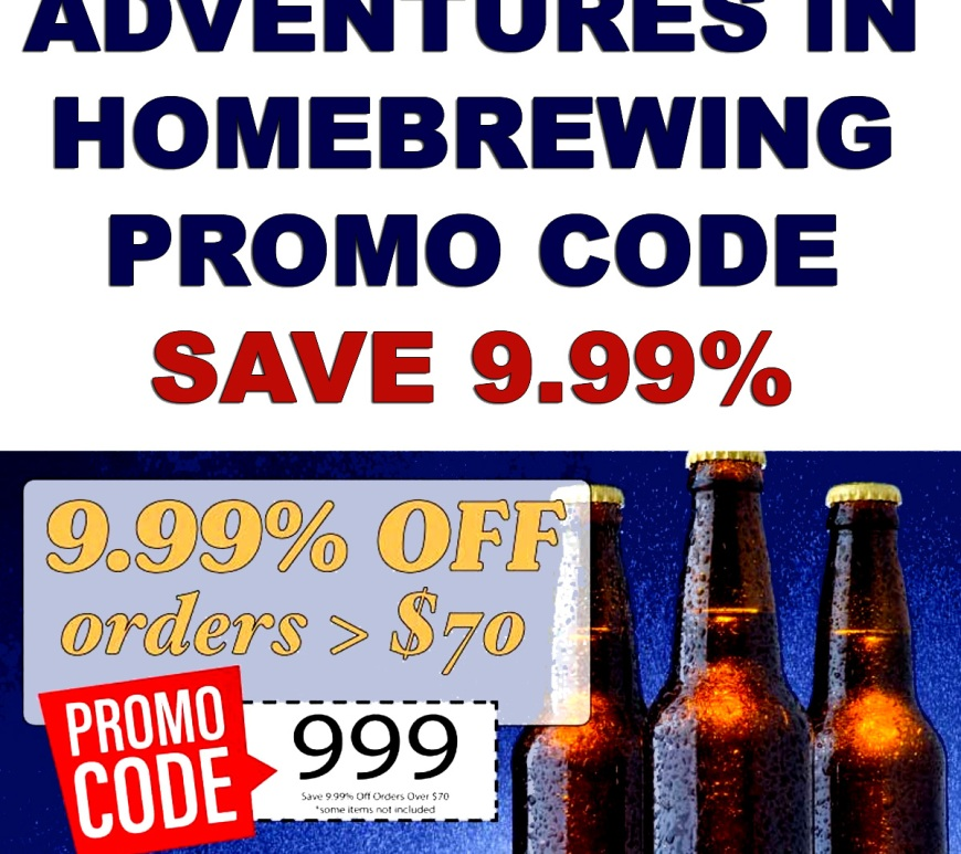 Adventures in Homebrewing Promotions for March 2019