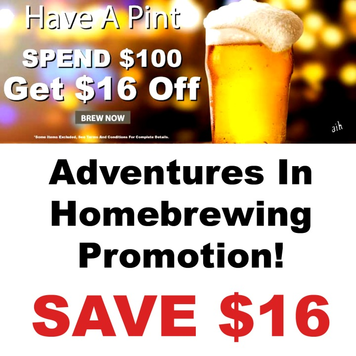 Adventures In Homebrewing Promotion March Promo Code