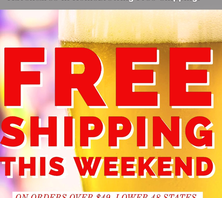 Free Shipping Adventures in Homebrewing Promo Code