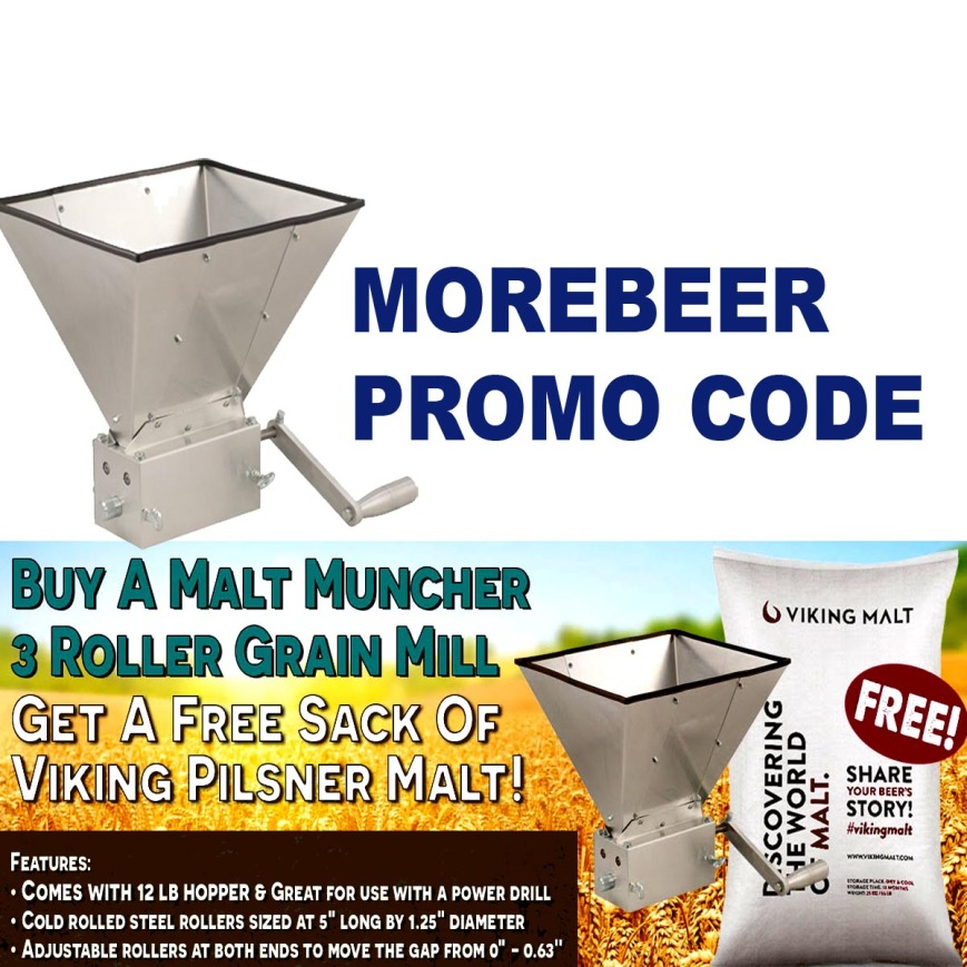 MoreBeer.com Promo Code for A Free Sack of Grain