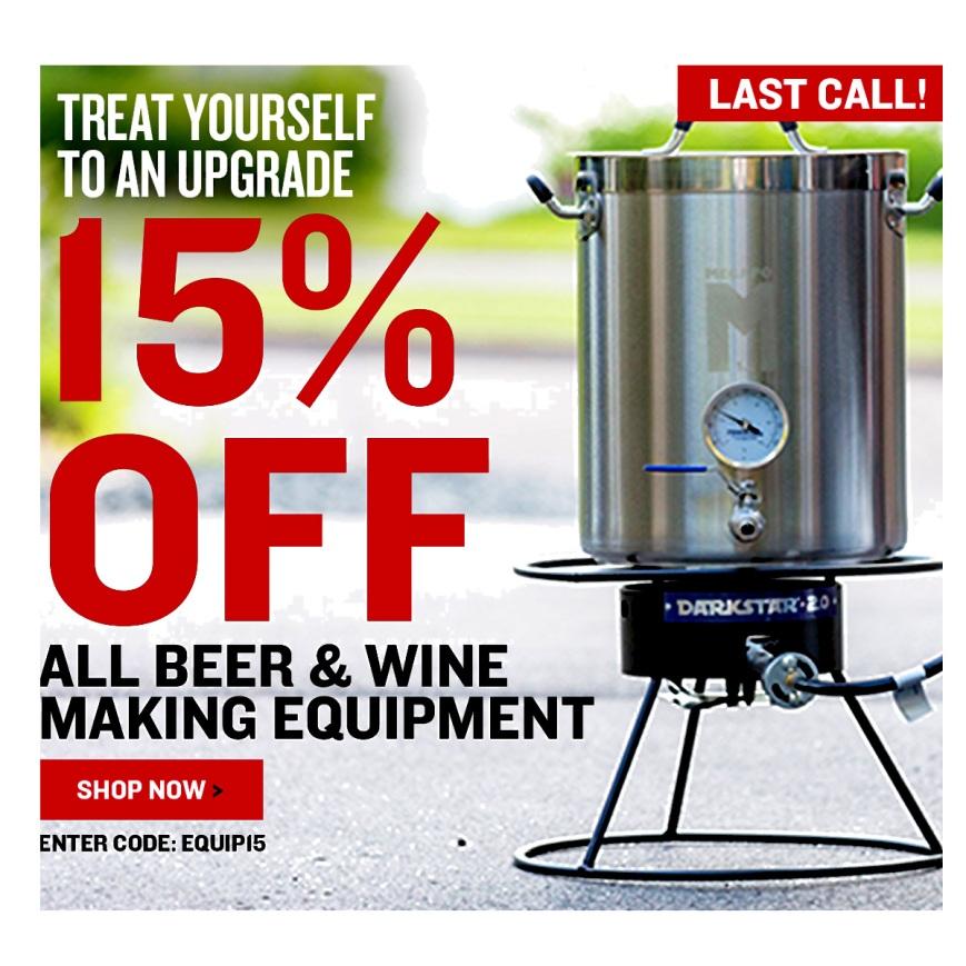NorthernBrewer.com 15% Off Equipment Promo Code