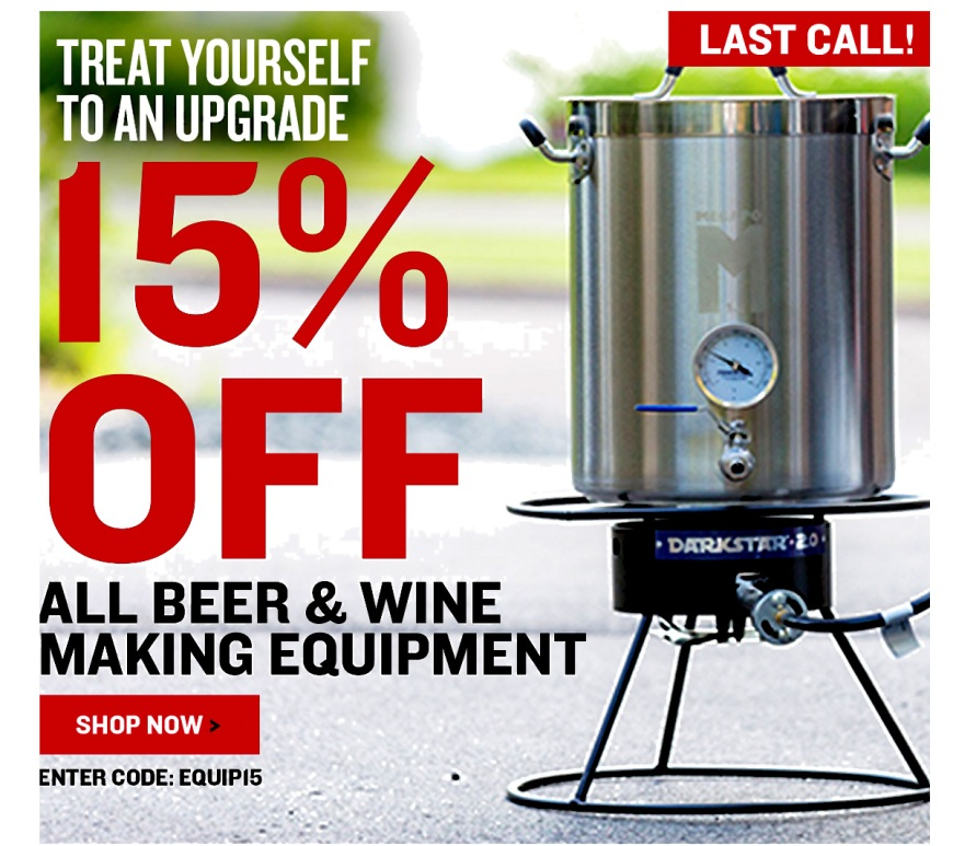 NorthernBrewer.com 15% Off Equipment Promo Code
