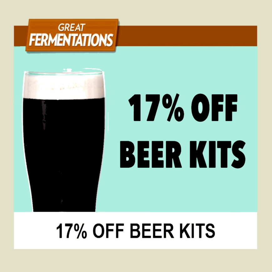 GreatFermentations.com Promo Code for 17% Off Beer Brewing Kits