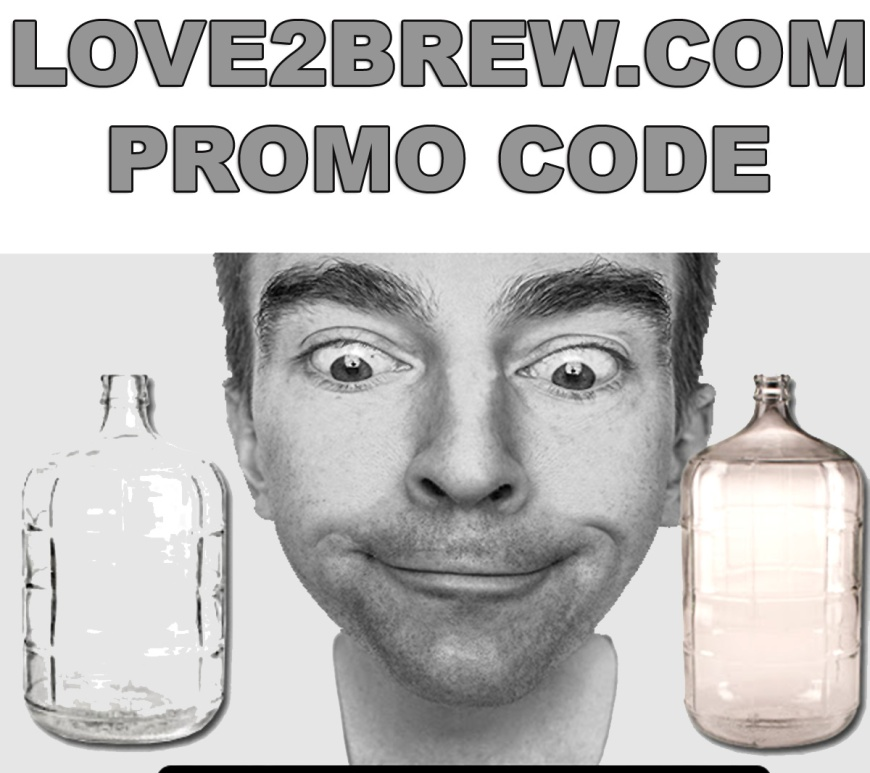 Love 2 Brew promo code for $5 any of their home brewing carboys!