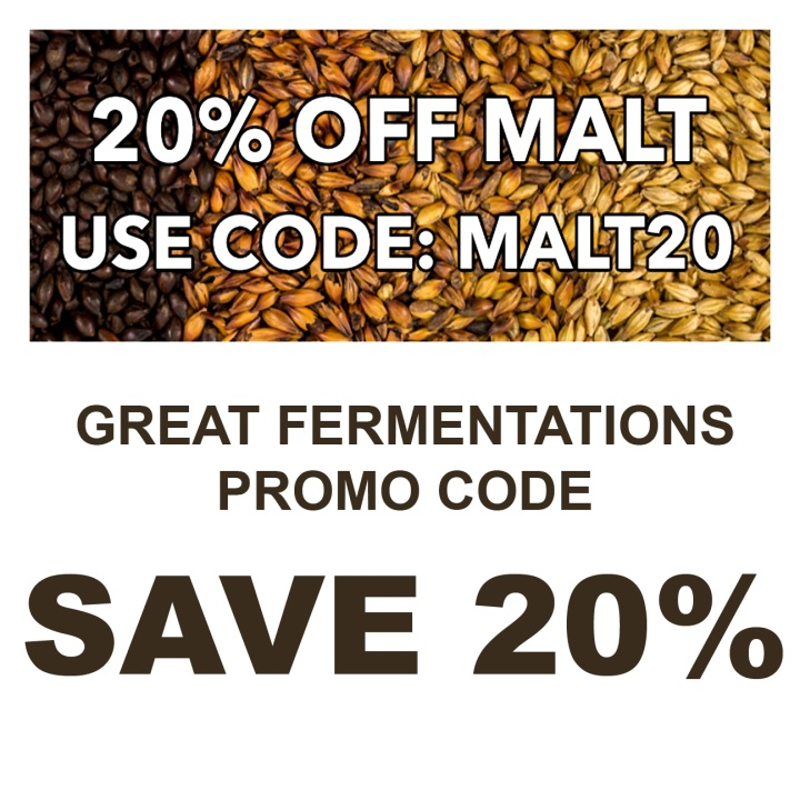 GreatFermentations.com 20% Off Malt Promo Code