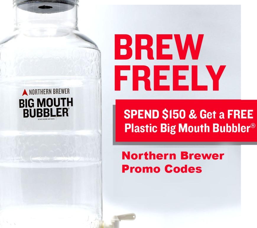 Northernbrewer.com Promo Code for a FREE Big Mouth Bubbler Fermenter