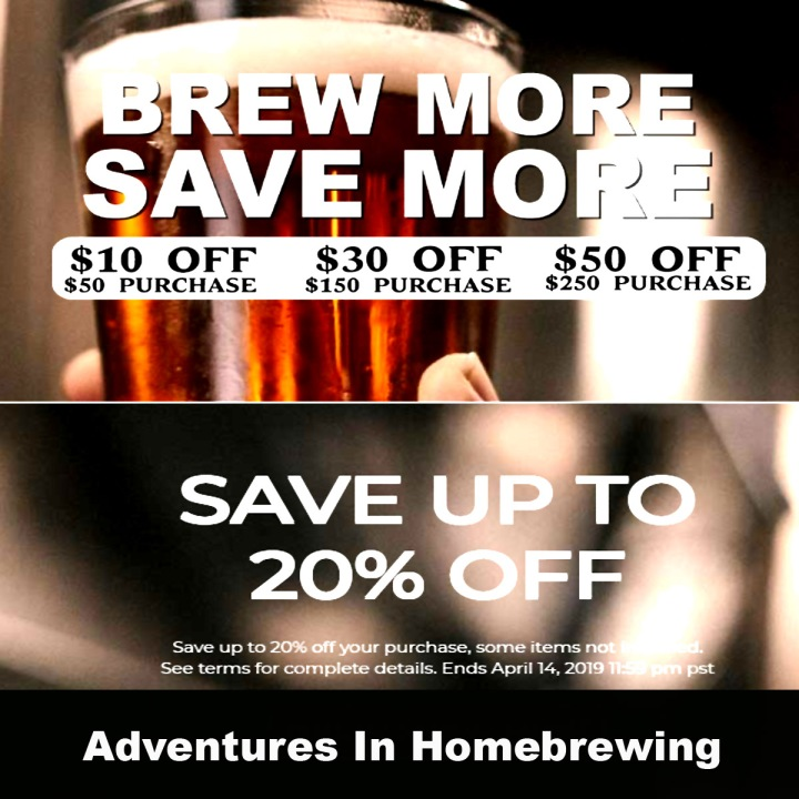 Save 20% On Your Adventures in Homebrewing Promo Code