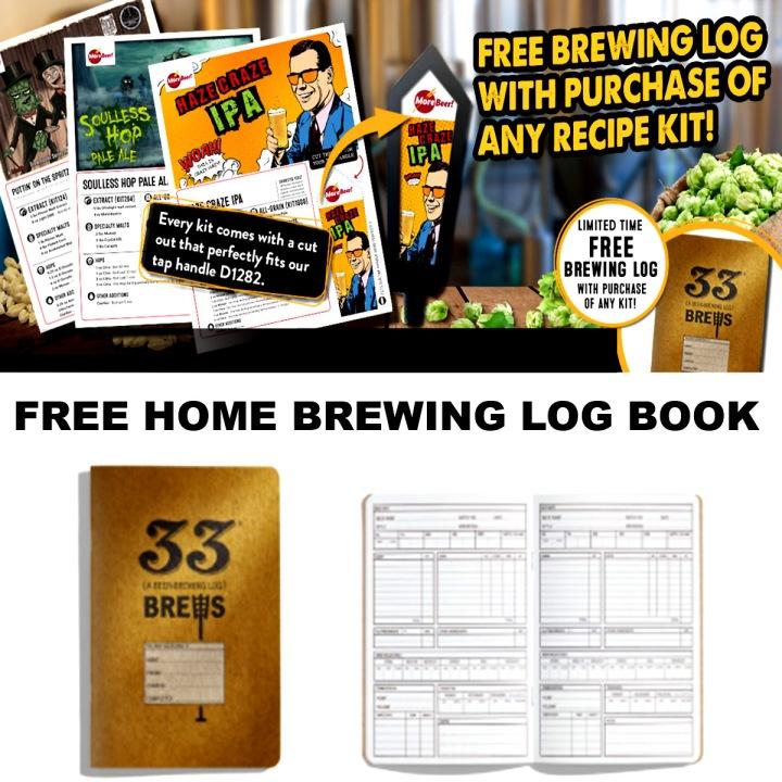 MoreBeer.com Promo Code for a FREE Home Brewing Log Book