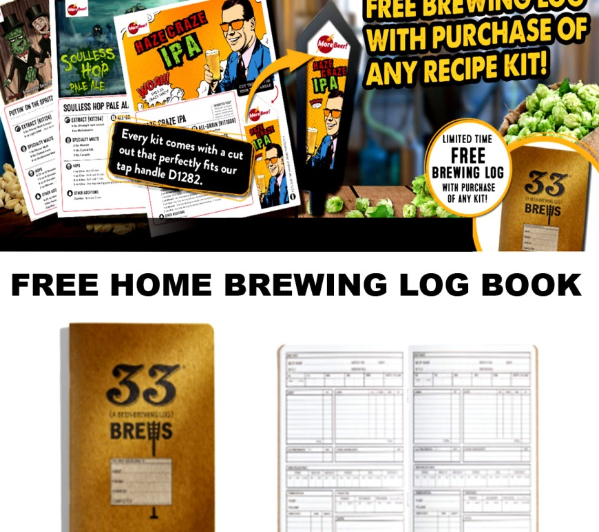MoreBeer.com Promo Code for a FREE Home Brewing Log Book