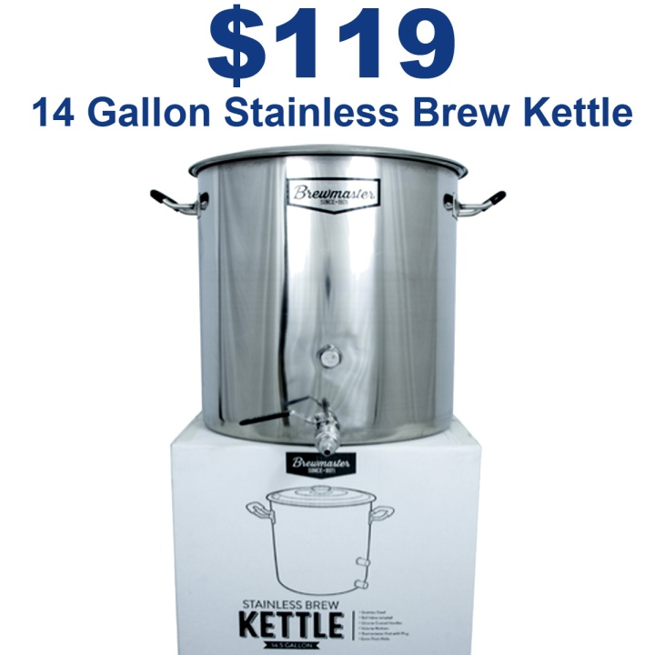 Get a 14 Gallon Stainless Steel Brew Master Kettle for Just $119