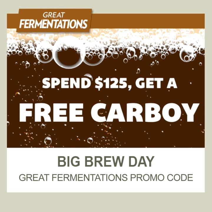 GreatFermentations.com Promo Code for a FREE Carboy