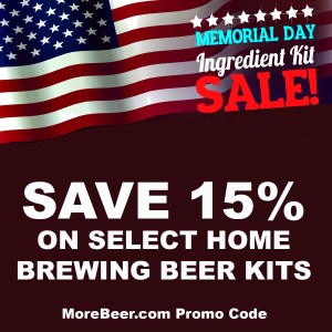 Memorial Day Promo Code for More Beer - Save 15% On Select Beer Kits