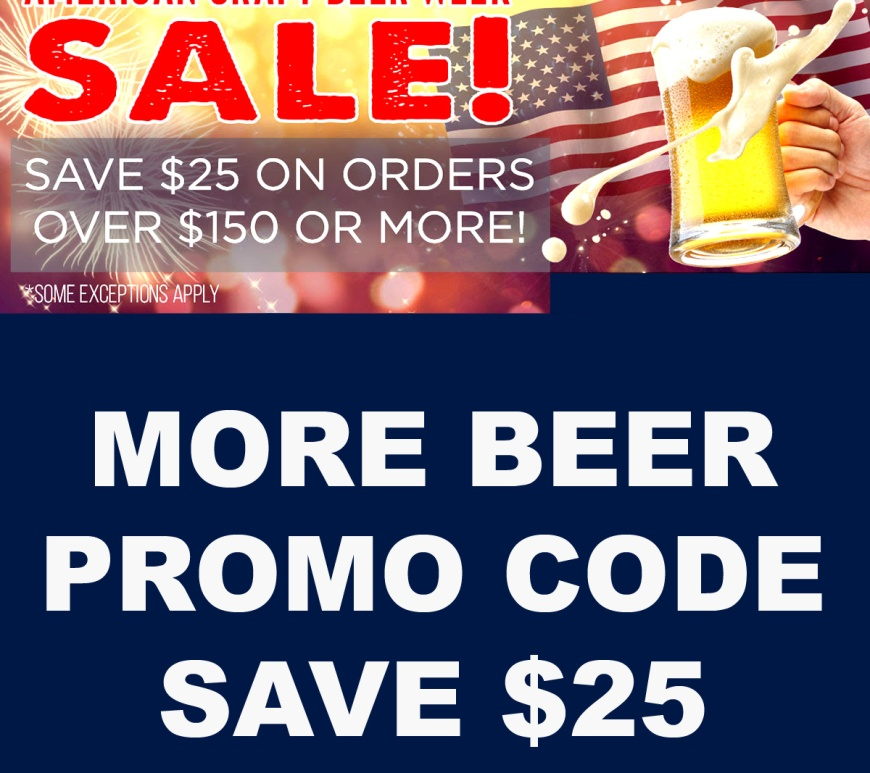More Beer Promo Code for $25 Off Your Purchase