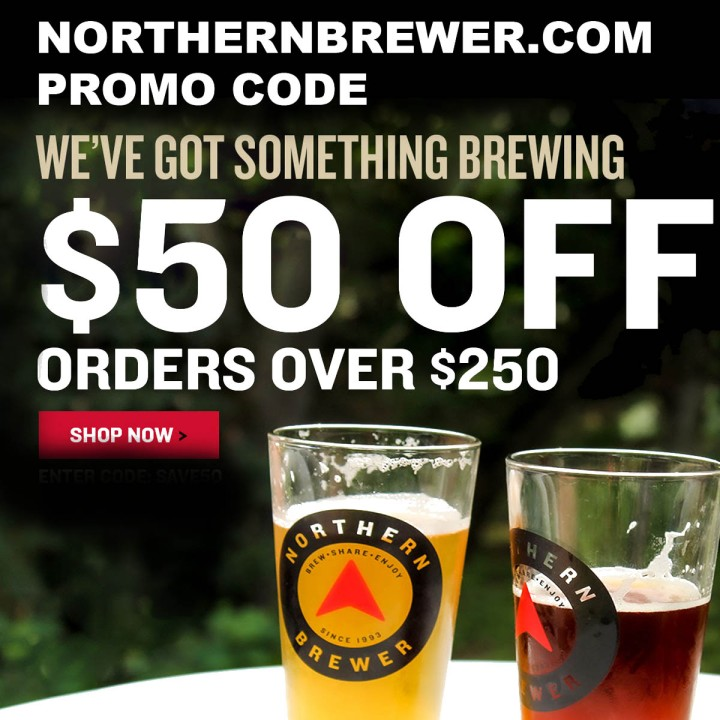 Northern Brewer Memorial Day Promo Code Save $50