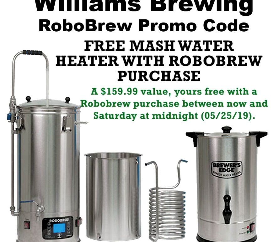 Get a Free Water Heater When You Purchase A RoboBrew Promo Code