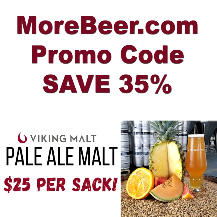 Get A 55 LBS Sack of Viking Pale Malt for Just $25 With This MoreBeer.com Promo Code