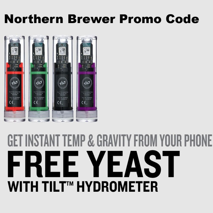 Use this Northern Brewer Promo Code and Get a Free Yeast Packet with a Tilt digital hydrometer purchase!