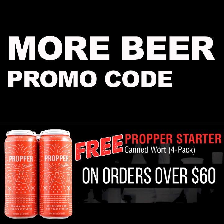 More Beer Promo Code for a Free 4-pack of Propper Canned Wort