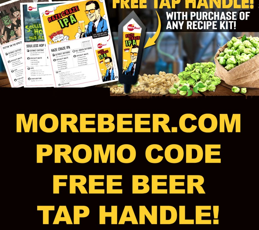 Get at Free Beer Tap Handle with this MoreBeer.com September 2019 Promo Code
