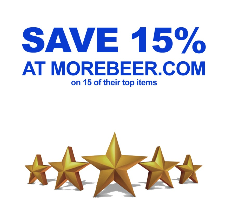 Save 15% On 15 of MoreBeer.com's Best Home Brewing Items with this More Beer Promo Code
