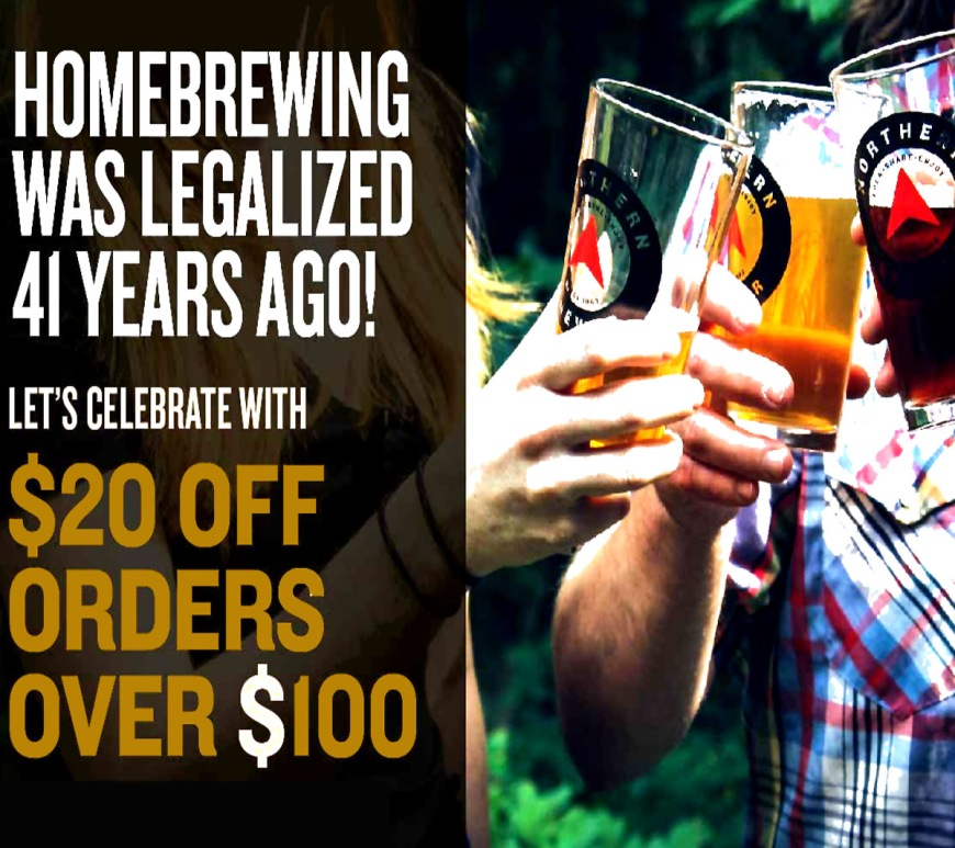 Save $20 at NorthernBrewer.com with this home brewing promo code