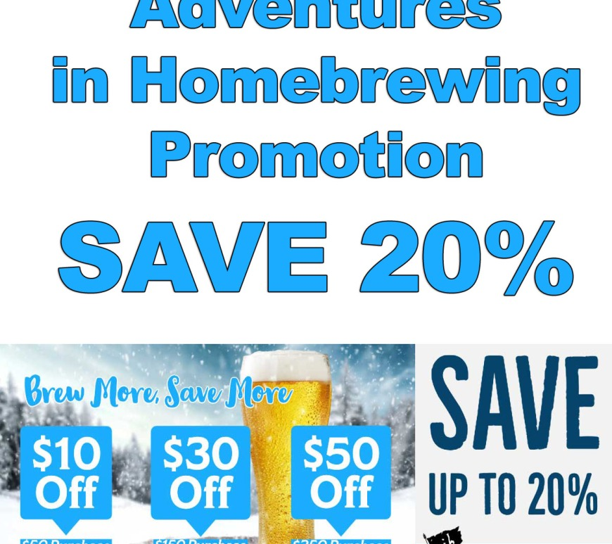 20% Off At Homebrewing.org Promotion