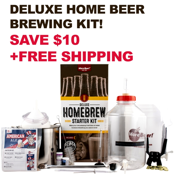 Get $10 Off A MoreBeer.com Deluxe Home Brewing Kit with Promo Code