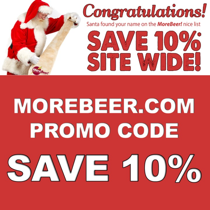Get 10% Off Your Home Brewing Purchase at MoreBeer!