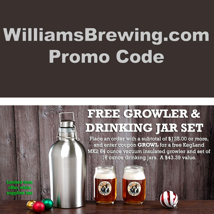 December Promo Codes for Williams Brewing