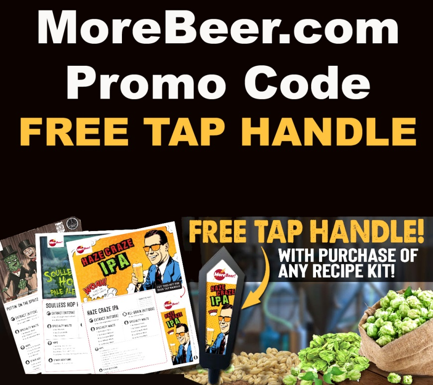 MoreBeer.com Promo Code for a Free Beer Tap Handle