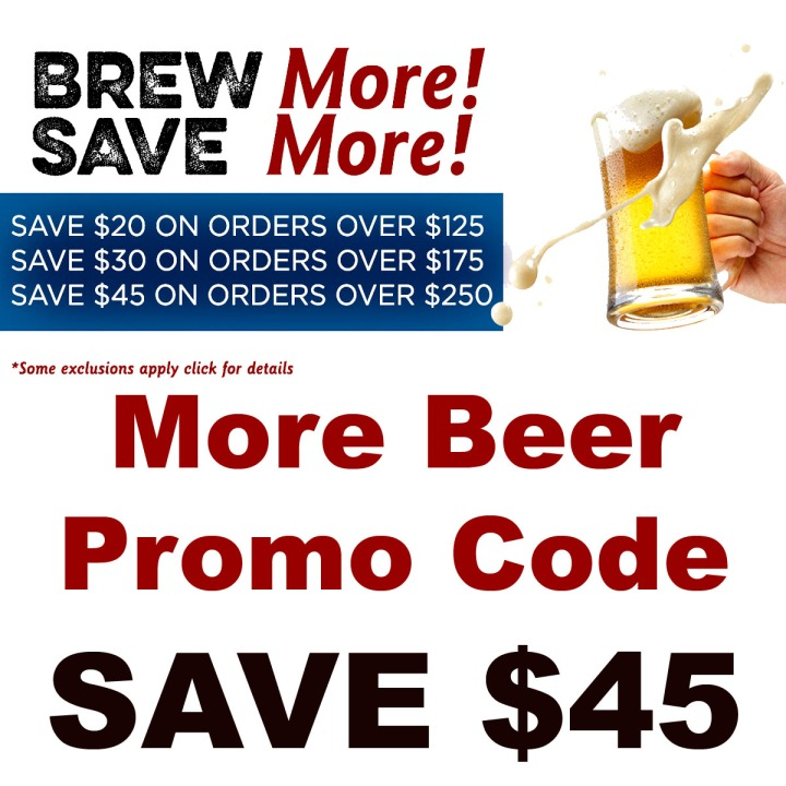 Save $45 on Your MoreBeer.com Purchase with this More Beer Promo Code