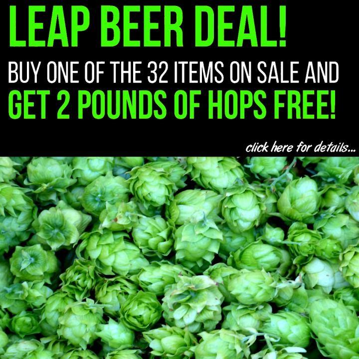 MoreBeer.com coupon for 2 LBS of Free Home Brewing Hops